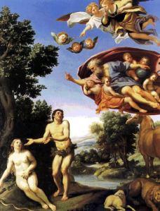 """""""Adam and Eve"""", by Domenichino"""